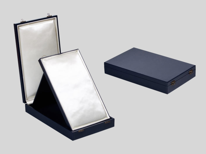 Leather Presentation Easel Boxes for Priceless Antique Jewelry